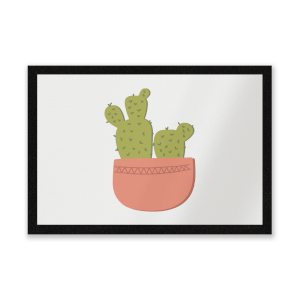 Two Potted Cacti Entrance Mat