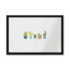 Cacti In A Row Entrance Mat