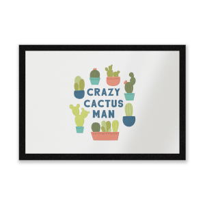 Crazy Cactus Man Entrance Mat