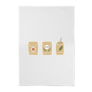 Seed Packets Cotton Tea Towel