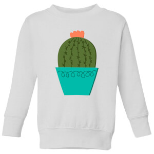 Cactus With Flower Kids' Sweatshirt - White