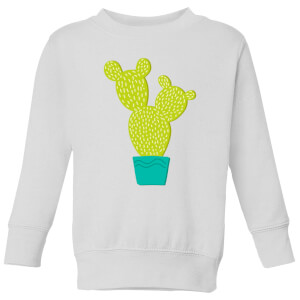 Tall Cactus Kids' Sweatshirt - White