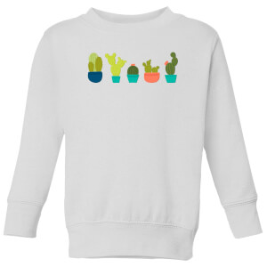 Cacti In A Row Kids' Sweatshirt - White