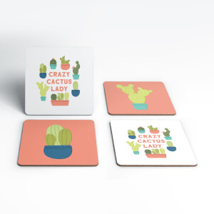 Crazy Cactus Lady Coaster Set