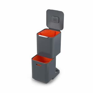 Joseph Joseph Totem Compact 40-Litre Waste Separation & Recycling Unit - Graphite