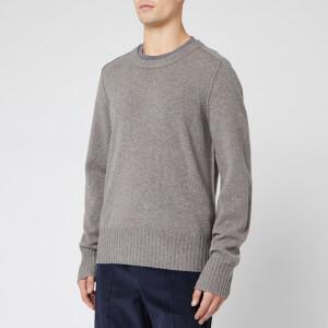 Maison Margiela Men's Elbow Patches Knitwear - Warm Grey
