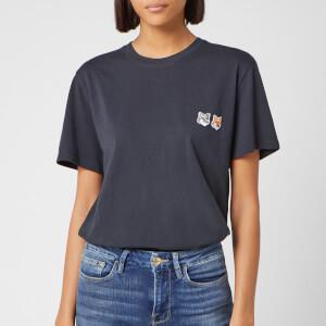 Maison Kitsuné Men's Double Fox Head Patch Classic T-Shirt - Anthracite