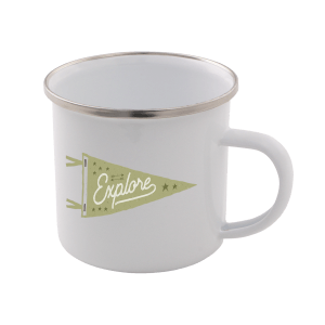 Explore Enamel Mug – White