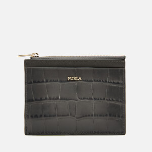 Furla Women's Babylon Small Zip Card Case - Grey