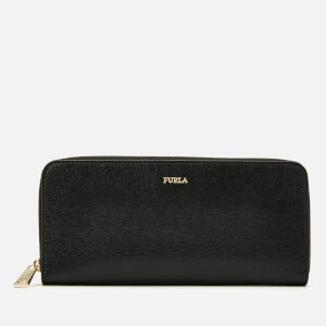 Furla Women's Babylon XL Zip Around Slim Wallet - Black