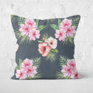 Tropical Flowers Square Cushion