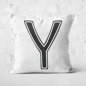 Handwritten Y Square Cushion