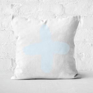 Light Blue Cross Square Cushion