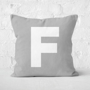 Letter F Square Cushion