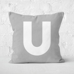 Letter U Square Cushion