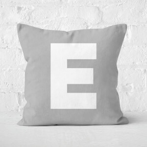Letter E Square Cushion