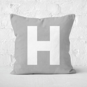 Letter H Square Cushion