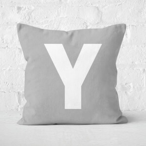 Letter Y Square Cushion