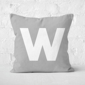 Letter W Square Cushion
