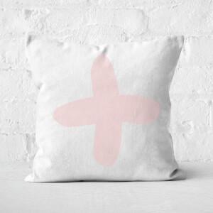 Light Pink Cross Square Cushion