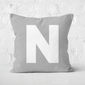 Letter N Square Cushion