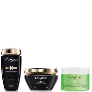 Kérastase Chronologiste Revitalising Shampoo, Masque and Soothing Scrub Trio