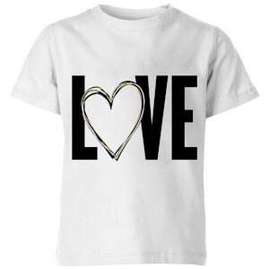 Love Heart Kids' T-Shirt - White