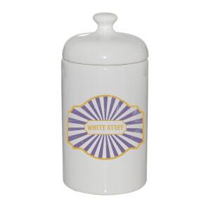 White Stuff Ceramic Jar