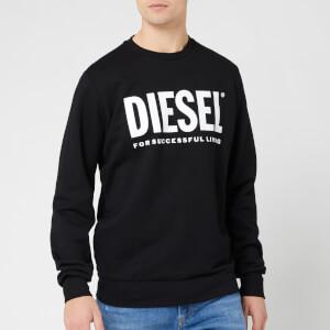 Diesel Men's Division Diesel Logo Sweatshirt - Black