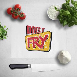 Does It Fry Logo Chopping Board