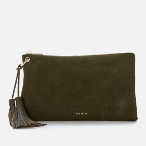 Ted Baker Women's Deseree Double Tassel Clutch Bag - Khaki
