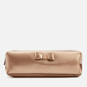 Ted Baker Women's Blasia Bow Detail Pencil Case - Rosegold