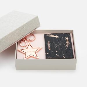 Ted Baker Women's Lixue Card Holder Star Keyring Set - Black