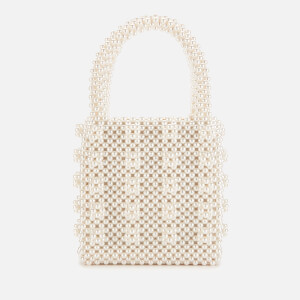 Shrimps Women's Antonia Classic Pearl Handbag - Cream
