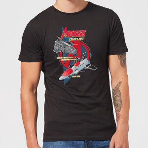 Marvel The Avengers Quinjet Men's T-Shirt - Black