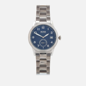 BOSS Hugo Boss Men's Legacy Metal Strap Watch - Rouge/Blue