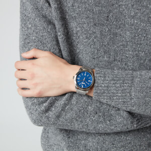 HUGO Men's Create Metal Strap Watch - Rou Blue