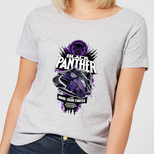 Marvel Black Panther The Royal Talon Fighter Badge Women's T-Shirt - Grey