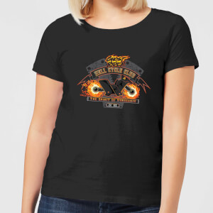 Marvel Ghost Rider Hell Cycle Club Women's T-Shirt - Black