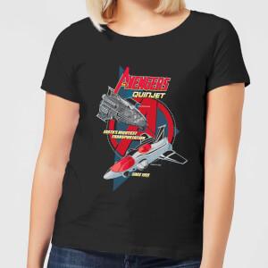 Marvel The Avengers Quinjet Women's T-Shirt - Black