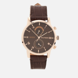 Tommy Hilfiger Men's Kane Leather Strap Watch - Brown