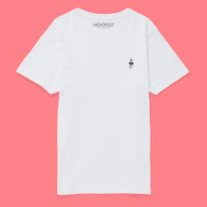 Monopoly Mr Monopoly Embroidered T-Shirt - White