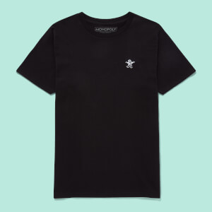 Monopoly Mr Monopoly Embroidered T-Shirt - Black