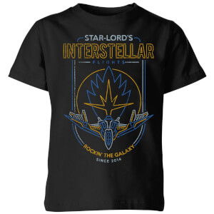 Marvel Guardians Of The Galaxy Interstellar Flights Kids' T-Shirt - Black