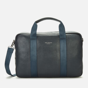 Ted Baker Men's Importa Leather Document Bag - Navy