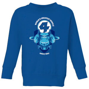 Marvel Fantastic Four Fantasticar Kids' Sweatshirt - Royal Blue