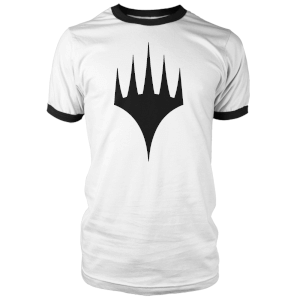 Magic The Gathering Black Logo Men's Ringer - White/Black