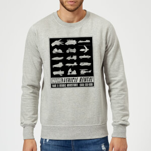 Marvel Vehicle Rentals Mono Sweatshirt - Grey