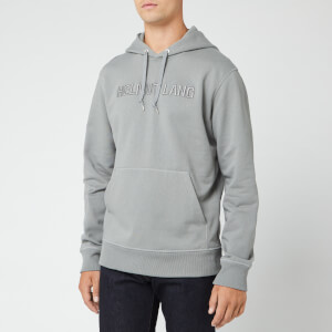 Helmut Lang Men's Raised Embroidery Hoody - Pebble