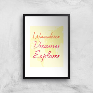 Wander Dreamer Explorer Background Art Print